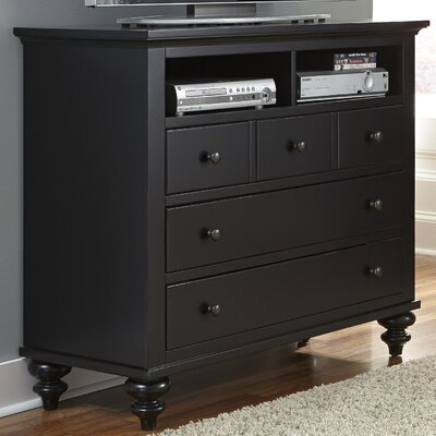Hamilton III 5 Drawer Media Chest by Alcott Hill