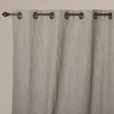 Ertham Linen Grommet Single Curtain Panel Product Photo