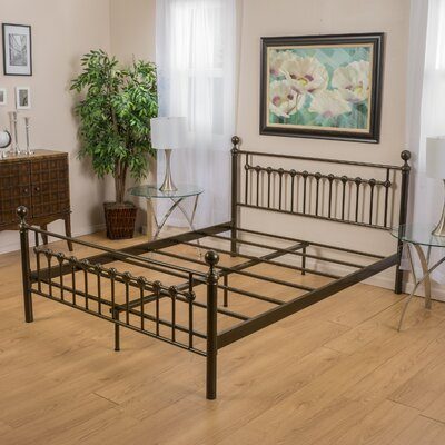 Keswick Copper Gold Bed Frame by Charlton Home