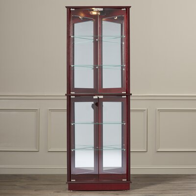 Lohmer Floor Standing 3 Sided Corner Curio Cabinet by Charlton Home