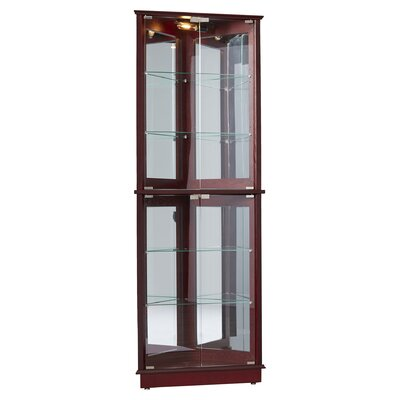 Charlton Home Lohmer Floor Standing 3 Sided Corner Curio Cabinet Reviews Wayfair