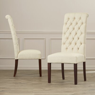 Estbury Tall Tufted Upholstered Dining Chair by Charlton Home