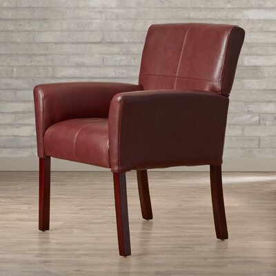 Milliken Leather Executive Lounge Chair by Varick Gallery