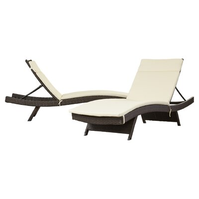 Garry Wicker Adjustable Chaise Lounge with Cushion by Brayden Studio