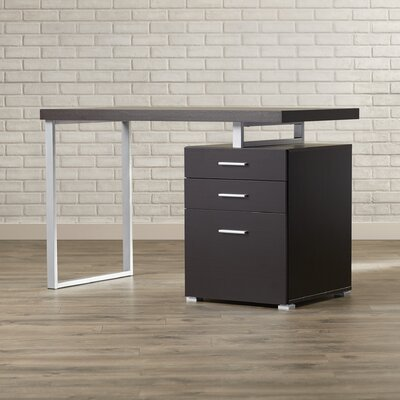Pascua Writing Desk with 3 Space Storage Drawers