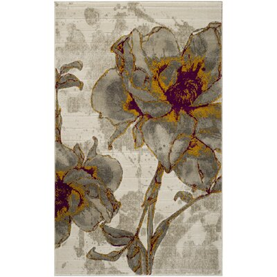 Porcello Ivory/Gray Area Rug by Langley Street