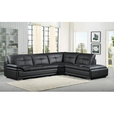 3 Piece Leather Sectional by BestMasterFurniture