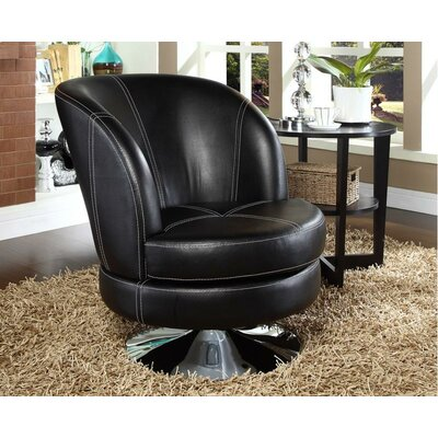 Swivel Bucket Style Accent Chair by !nspire