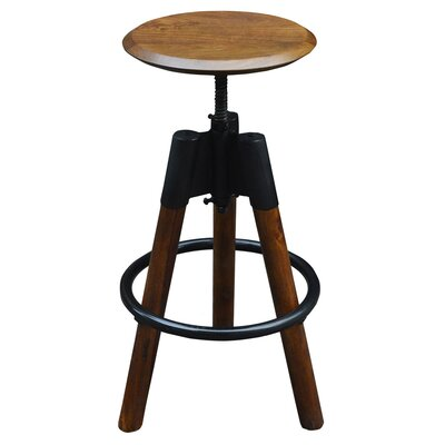 Maran Adjustable Height Swivel Bar Stool by !nspire