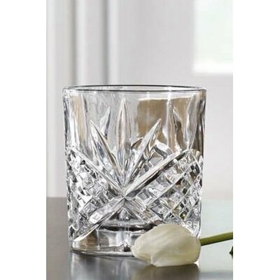 4 Piece Double Fashioned Crystal Drinking Glasses by James Scott
