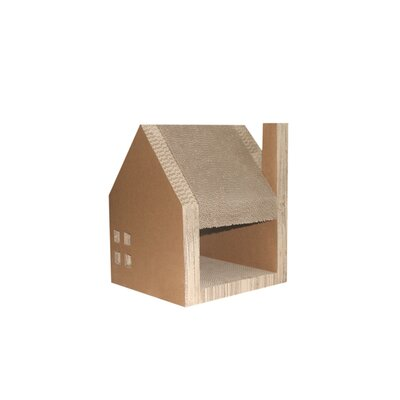 Corrugated Cardboard Cat House by Purrrfect Life