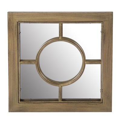Wood and Metal Mirror by Lark Manor