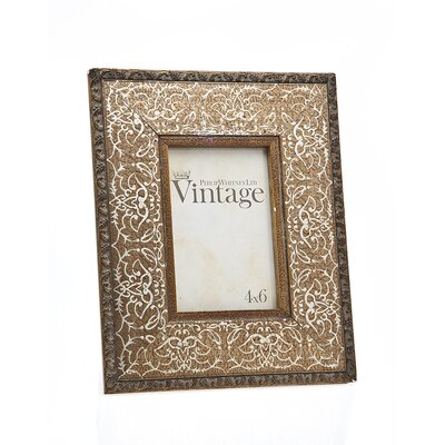 Vintage Scroll Picture Frame by Philip Whitney