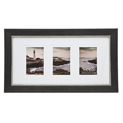 3 Opening Double Matte Bead Picture Frame by Philip Whitney