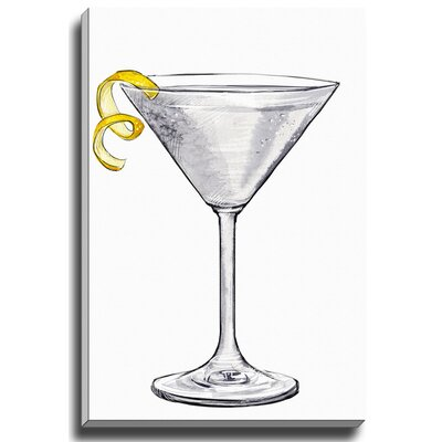 Martini Twist by Lady Gatsby Painting Print on Gallery Wrapped Canvas by Bashian Home