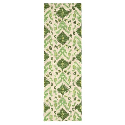 Nourison Siam Ivory/Green Area Rug
