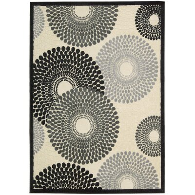 Nourison Graphic Illusions Parchment Cream Abstract Area Rug