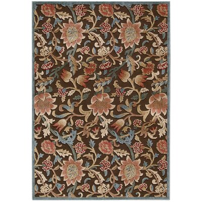 Graphic Illusions Brown Floral Area Rug by Nourison