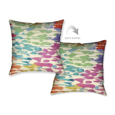 Splashes of Color Throw Pillow by LauralHome
