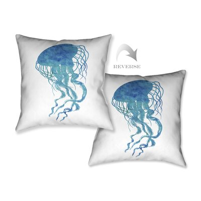 Watercolor Jellyfish Throw Pillow by LauralHome