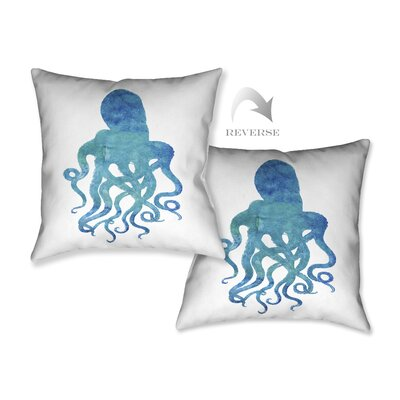 Watercolor Octopus Throw Pillow by LauralHome