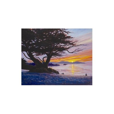 Sunset at Carmel Beach by Charles White Framed Painting Print by HadleyHouseCo