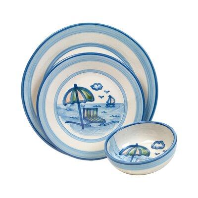 Beach Umbrella 3 Piece Dinnerware Set by HadleyHouseCo