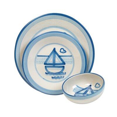 Sailboat 3 Piece Dinnerware Set by HadleyHouseCo