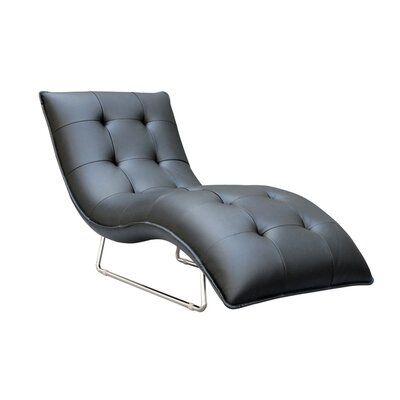 Hill Living Grain Leather Chaise Lounge by Container