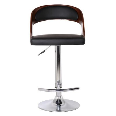 Adjustable Height Swivel Bar Stool with Cushion by Container