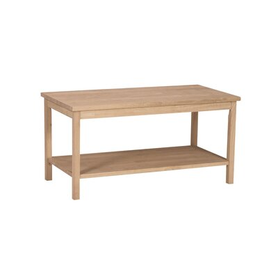Unfinished Wood Portman Coffee Table by International Concepts