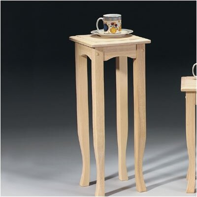 Tall Wood End Table by International Concepts