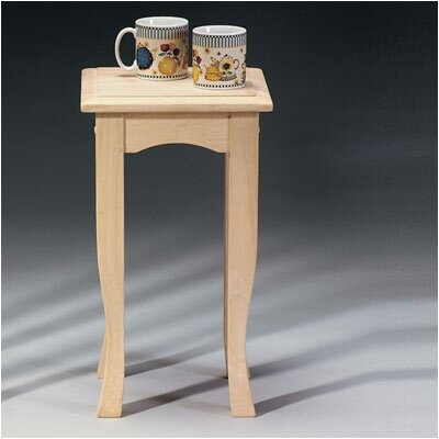 Short Wood End Table by International Concepts
