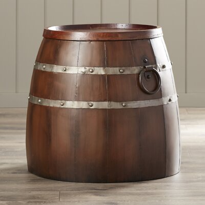 Leila Wine Barrel Side Table by August Grove