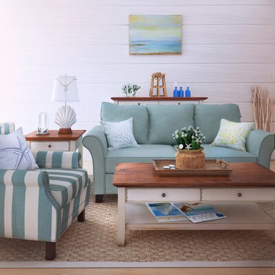 Paget Sofa in Blue by Beachcrest Home
