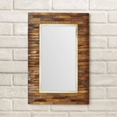 Hammond Mixed Media Rectangular Bevel Wall Mirror by Loon Peak