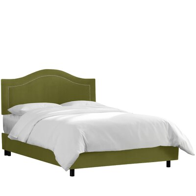 Inset Nail Button Upholstered Panel Bed by House of Hampton