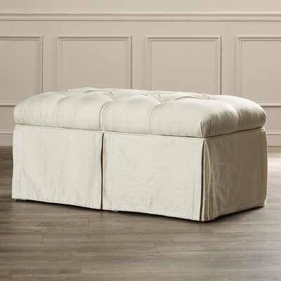 cooper skirted bedroom storage ottoman by house of hampton