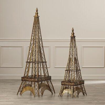 2 Piece Eiffel Tower Sculpture by House of Hampton