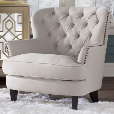 Gray Tufted Upholstered Chair Image