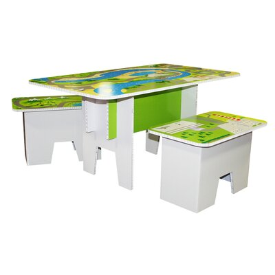 Kids Road Top Play 3 Piece Multi Game Table Set by FunDeco