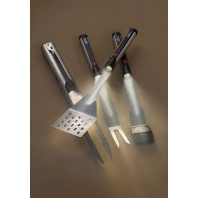 4 Piece Grilling Tool Set with Apron by Grillight
