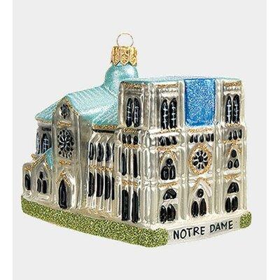 Pinnacle Peak Glass Notre Dame Cathedral Paris France Christmas Ornament by PinnaclePeak