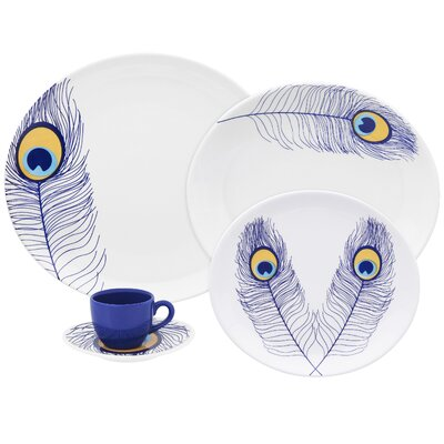 Coup 20 Piece Peacock Dinnerware Set by Oxford Porcelain