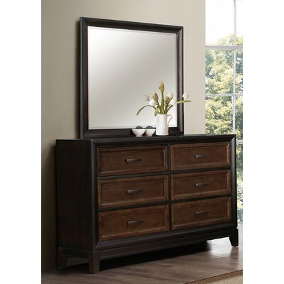 Sedona 6 Drawer Dresser with Mirror by Simmons Casegoods