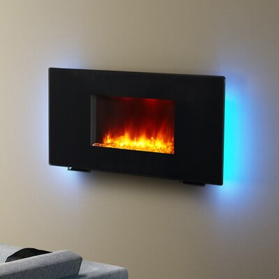 Puraflame Remote Control Portable And Wall Mounted Flat Panel Electric Fireplace Reviews Wayfair