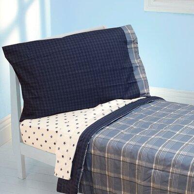 Westport Blue Plaid 4 Piece Toddler Bedding Set by Store 51