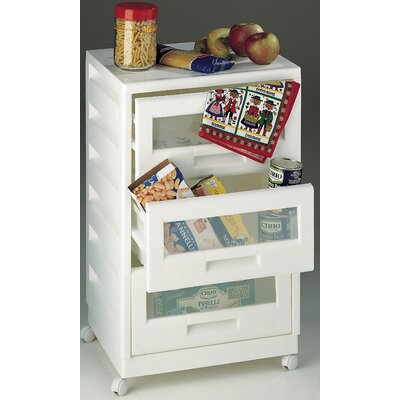 3 Drawer Storage and Organization Cabinet or Cart Product Photo