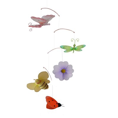 Anna Butterfly Ladybug Bee Dragonfly Flower Decoration Mobile by The Butterfly Grove