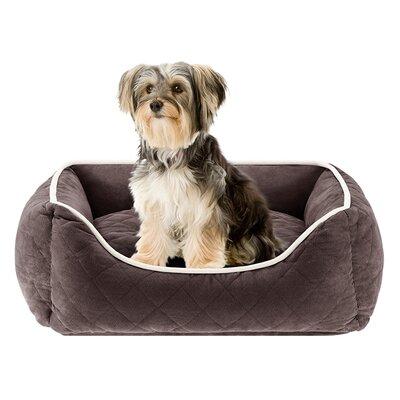 Keane Quilted Orthopedic Foam Rectangular Cuddler Bloster Dog Bed by Sleep Philosophy